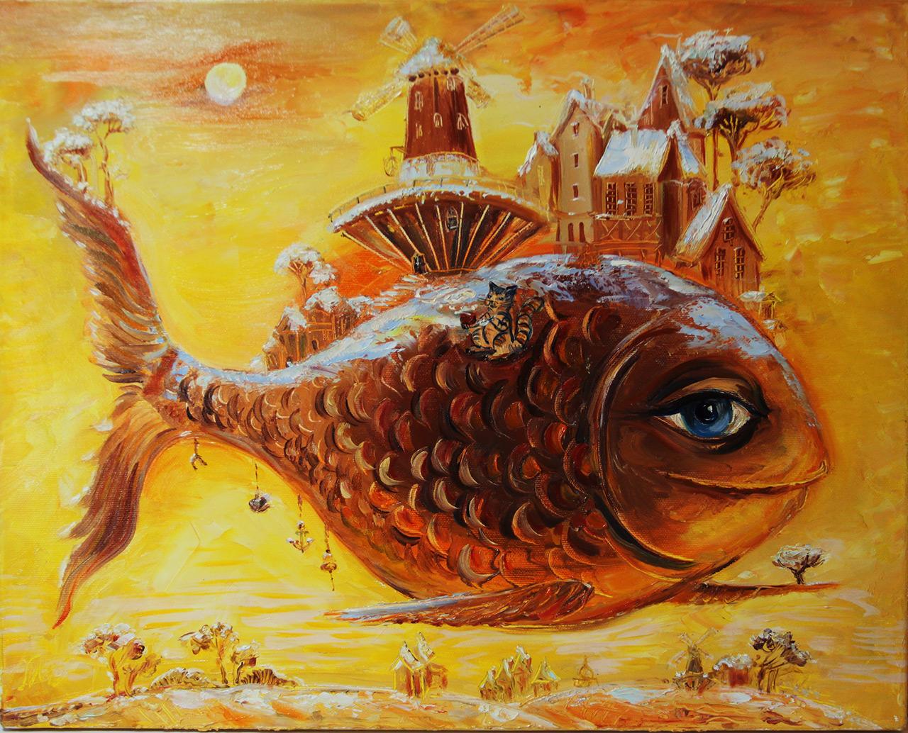картинки рыба художника духовке